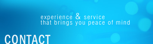 Contact - experience & service that brings you peace of mind
